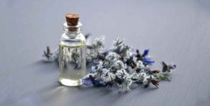 oil and lavender