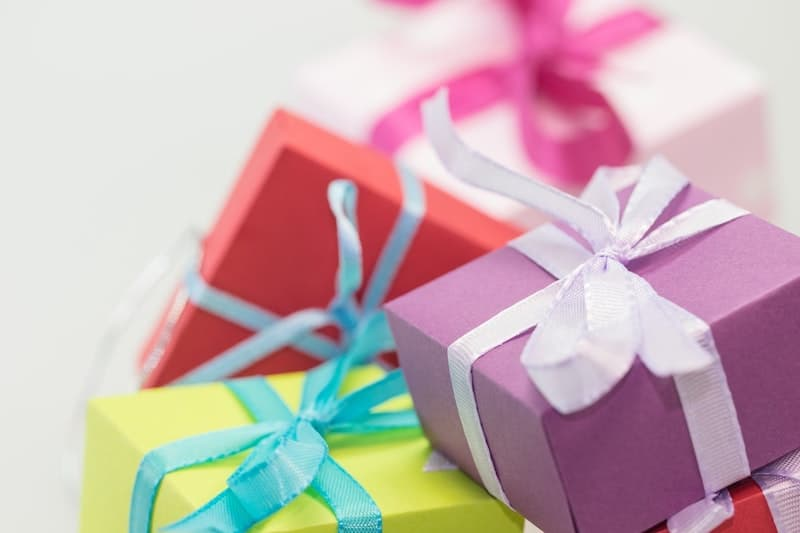 small colourful gifts
