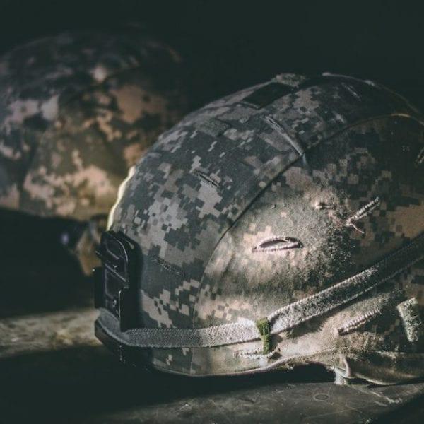 helmet from the war