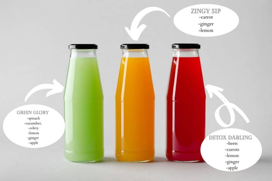 green orange red juice