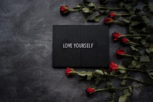 letters saying love yourself