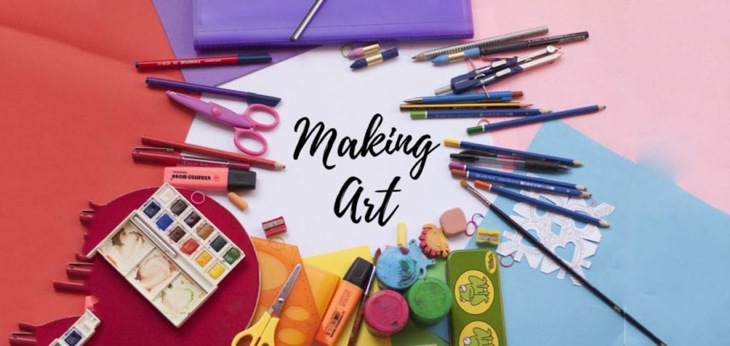 making art pens brushes and colour
