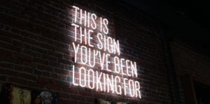 neon sign saying this is the sigma you've been looking for