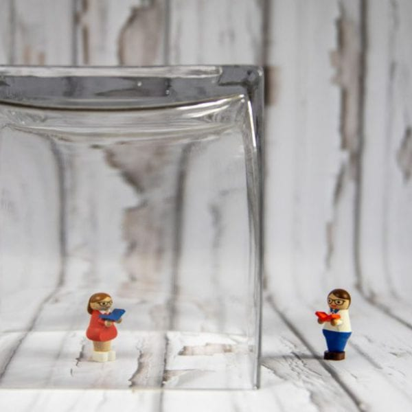 lego in a glass box