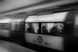 tube black and white in London