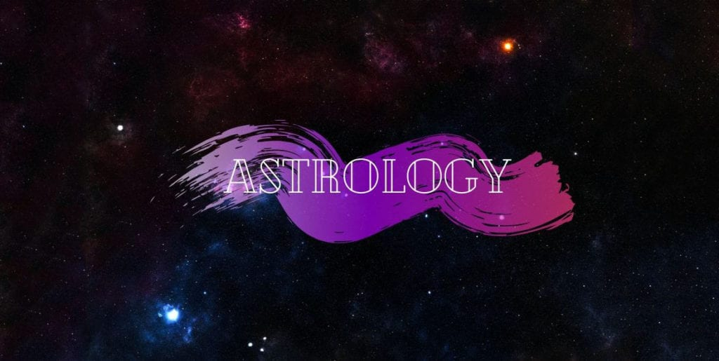 starry sky and text astrology