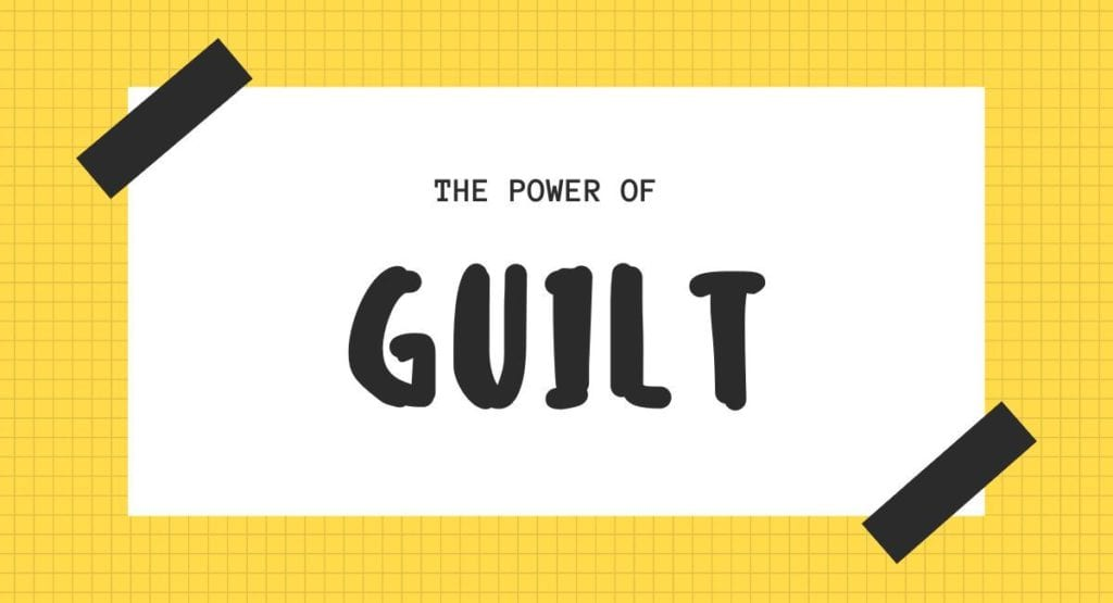 yellow background and the power of guilt