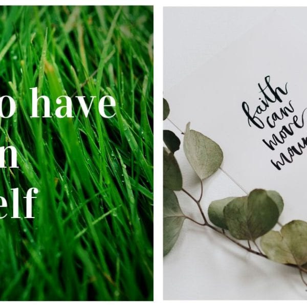 how to have faith in yourself on grass background
