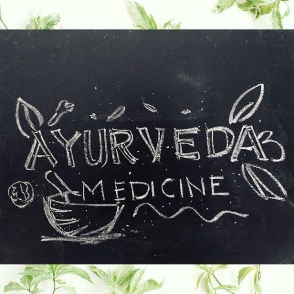 blackboard saying ayurveda medicine