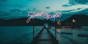 sweet escape in neon