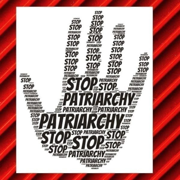 hand saying stop patriarchy