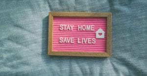 fram with test stay home save lives