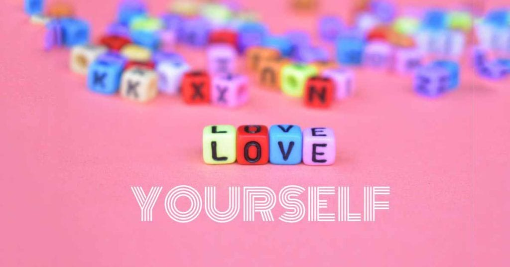 love yourself in colourful cubes