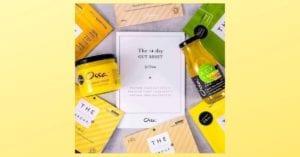 ossa organic gut reset selection on yellow background