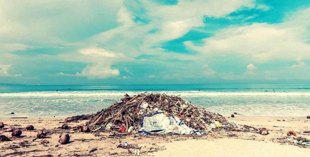 landfill on beach