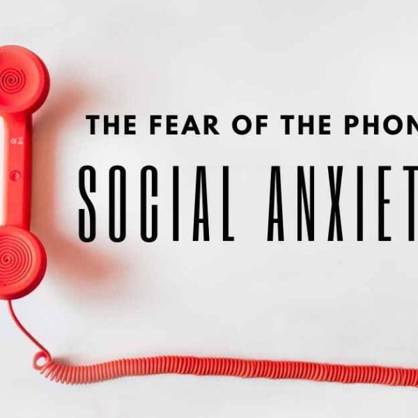 red phone and the text social anxiety