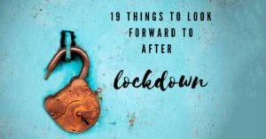 rusty lock on turquoise background