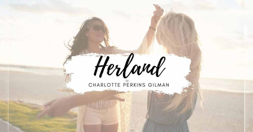 herland on background with two girls