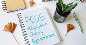 PCOS on lined paper