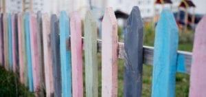 multi coloured fence