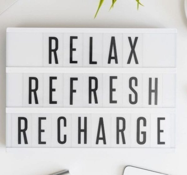 relax refresh and recharge
