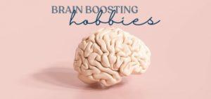brain on pink background