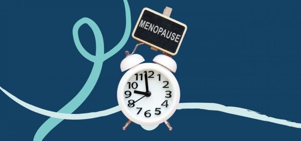 clock saying menopause