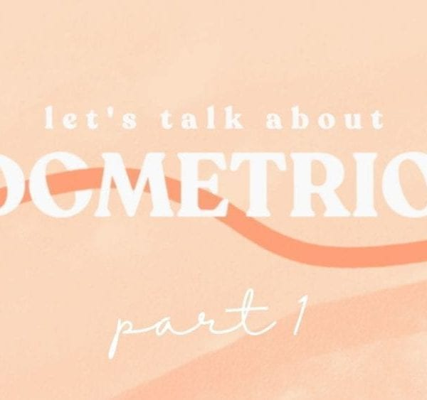 orange background with endometriosis written on it