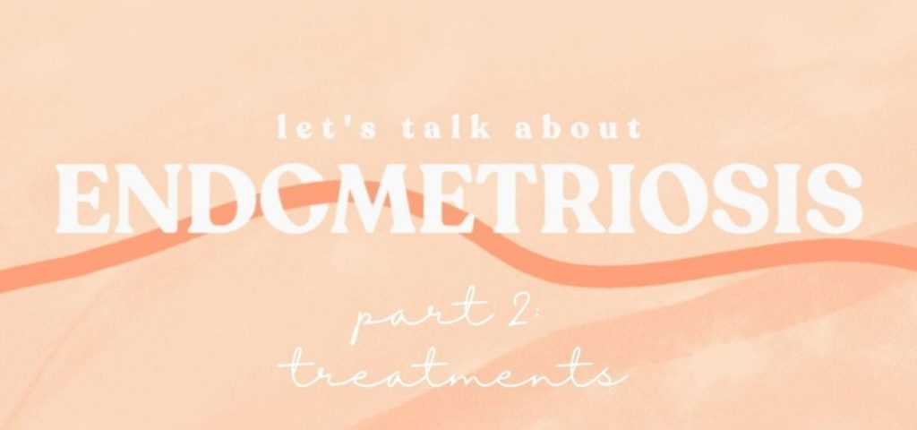 endometriosis on orange background