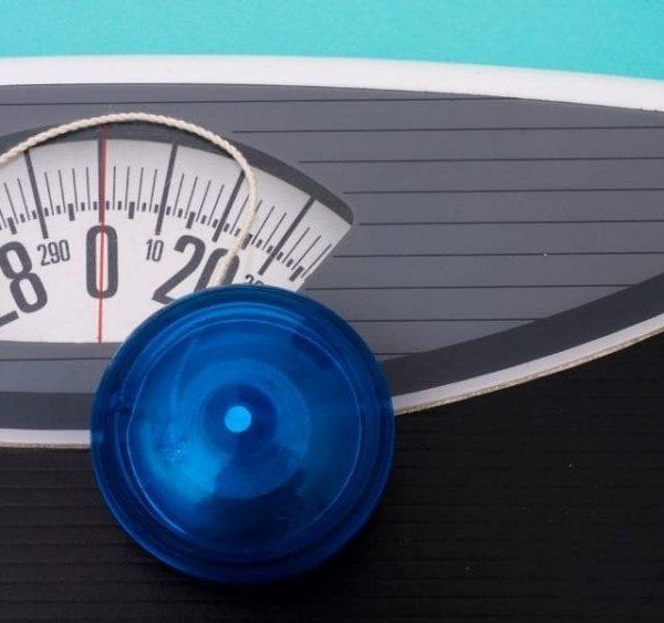 blue yoyo on scale