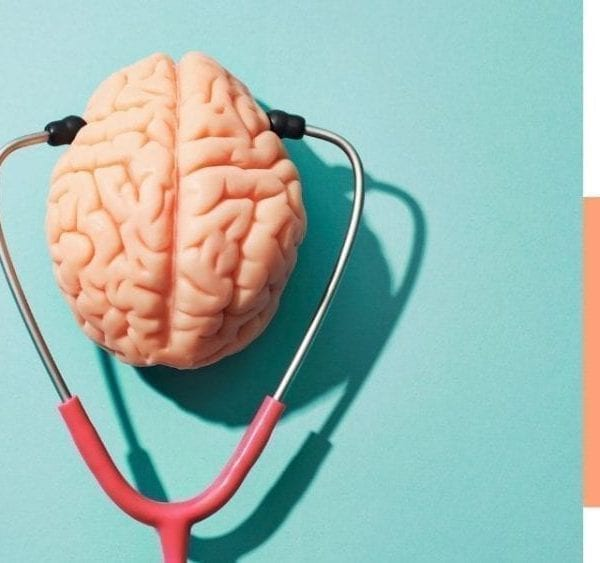 brain and stethoscope