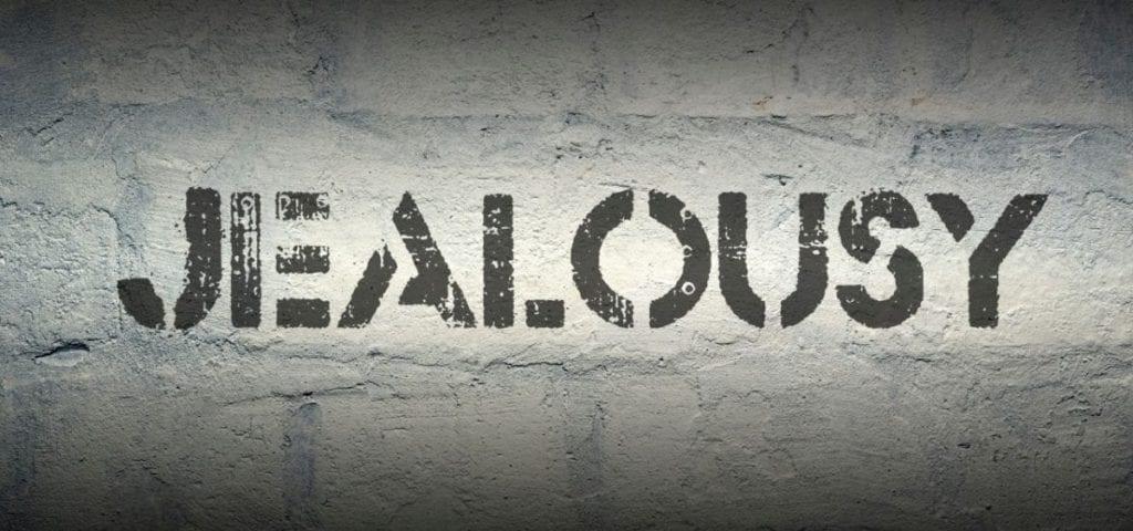 jealousy on brick wall