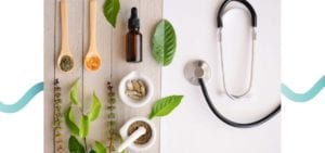 herbs and stethoscope