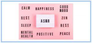 ASMR on pink background