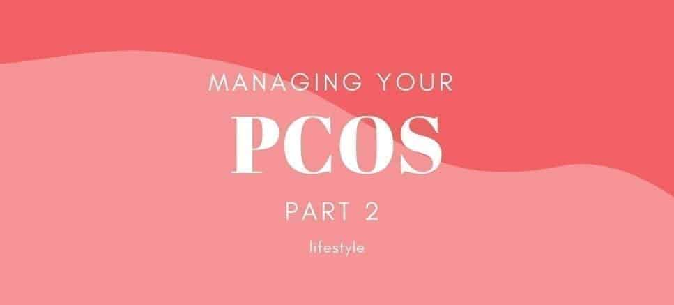 PCOS on pink background