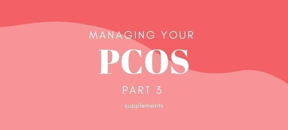 PCOS on pink backgorund