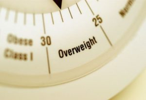 scale showing overweight
