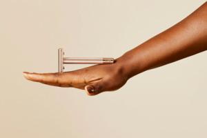razor on a hand