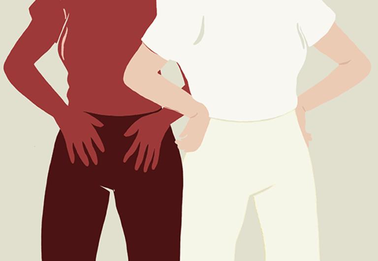 illustration of women holding their hips
